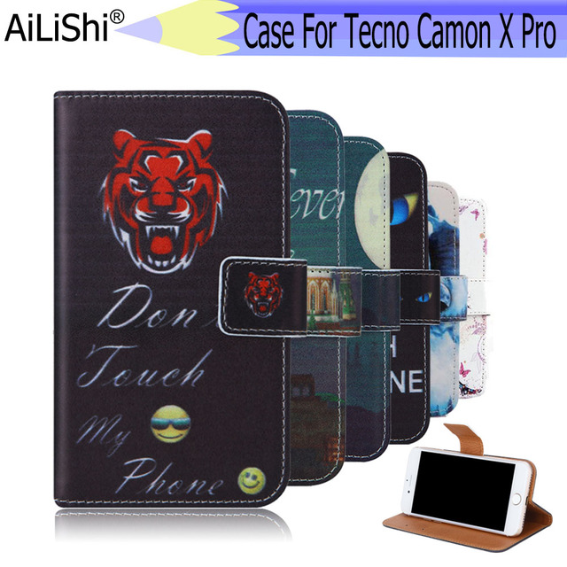 US $4 29 |AiLiShi For Tecno Camon X Pro Case Exclusive Phone Camon X Pro  Tecno PU Leather Case Flip Credit Card Holder Wallet 6 Colors-in Flip Cases