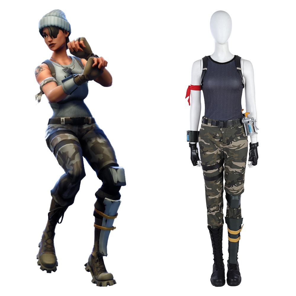 Game Battle Royale Female Cosplay Costume Commando Camouflage Outfit