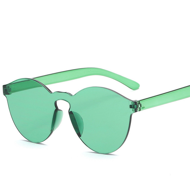 Fashion Women Flat Sunglasses Luxury Brand Designer Sun glasses Integrated Eyewear Candy Color UV400 de sol feminino