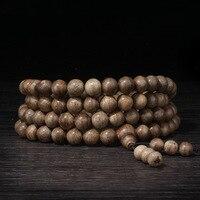 Authentic 108 beads 8mm fashion prayer beads bracelets men jewelry wood wristband Natural Agarwood bracelet Man prayer beads
