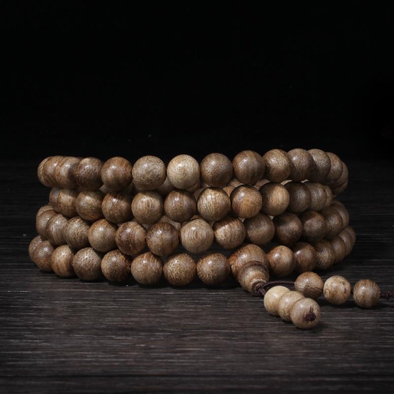 Authentique 108 perles 8mm mode prière perles bracelets hommes bijoux bois bracelet naturel Agarwood bracelet homme prière perles