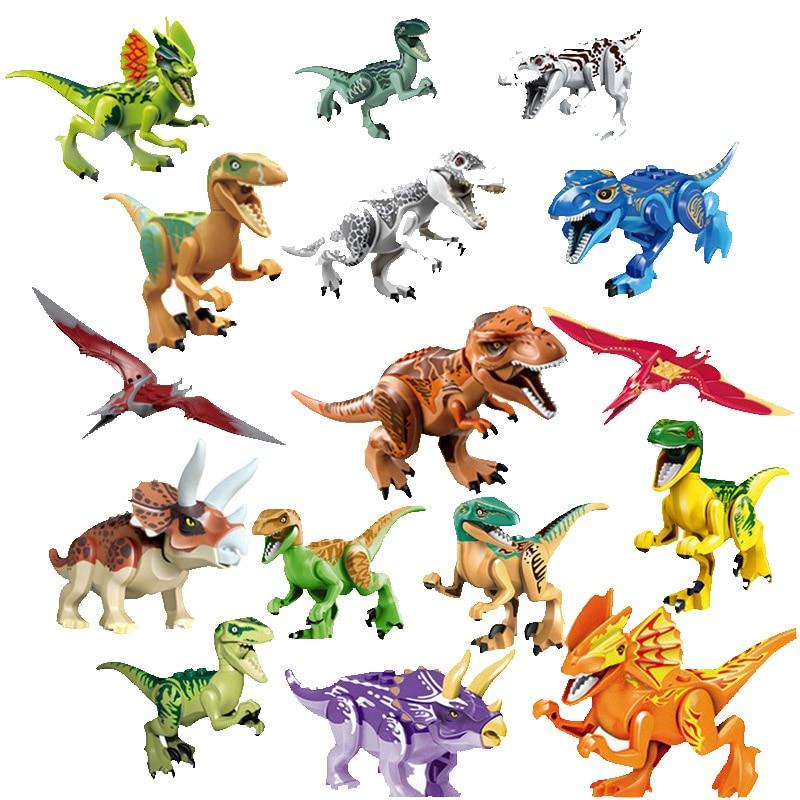 160pc Jurassic Dinosaur Figure Animal World Raptor Pterosauria Triceratop Indomirus T-Rex Building Block Toy compatible legoings160pc Jurassic Dinosaur Figure Animal World Raptor Pterosauria Triceratop Indomirus T-Rex Building Block Toy compatible legoings