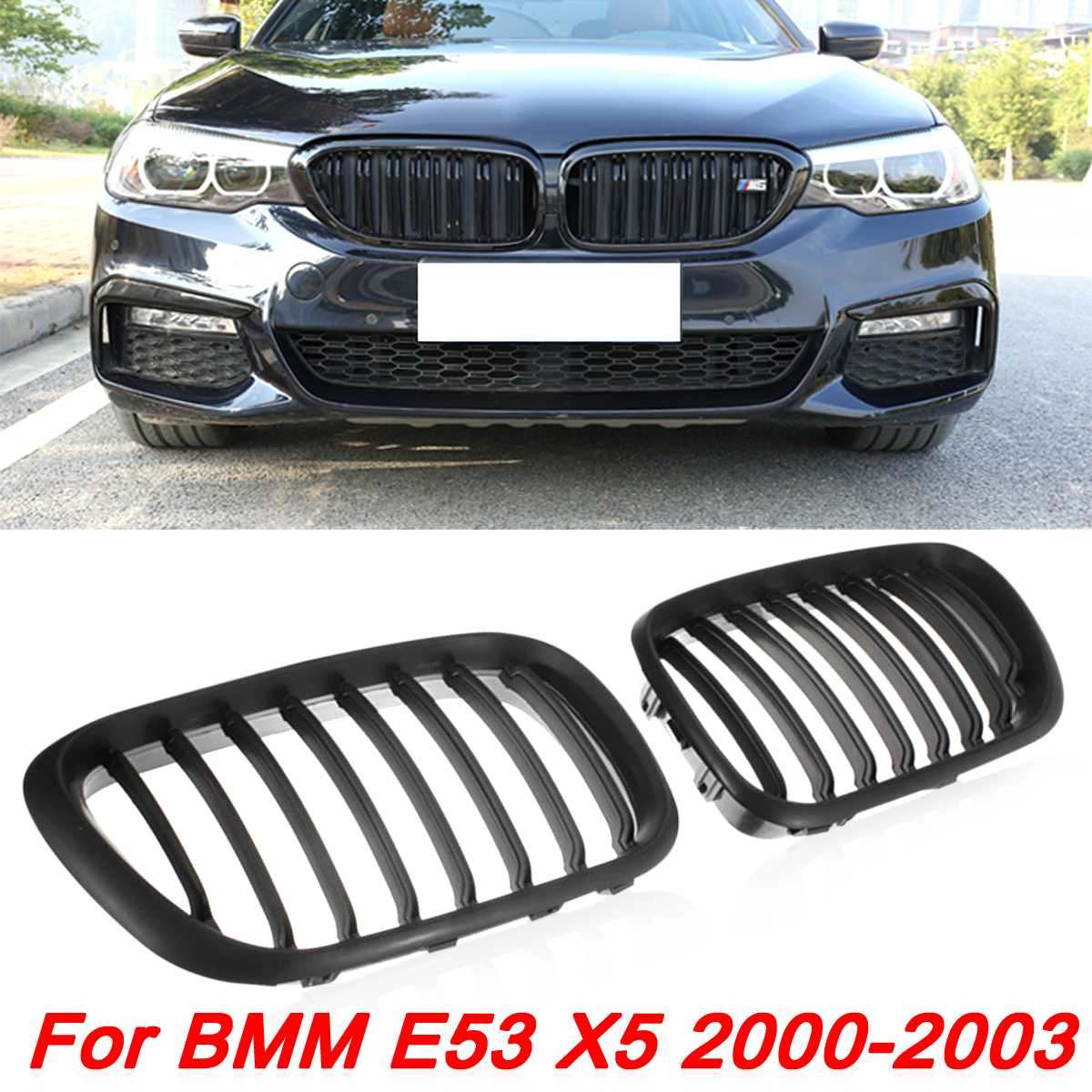 Car Black Front Center Grille Racing Grills For BMW X5 E53 1999 2000 2001 2002 2003 Replacement Grill Kidney Hood