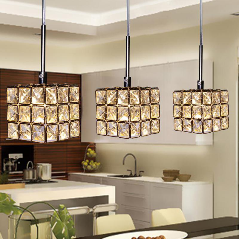 ФОТО LED Gold Crystal Pendant Light Iluminacion Lustres Para Sala De Jantar Hanging Lights Led Lamp Lustres Lighting