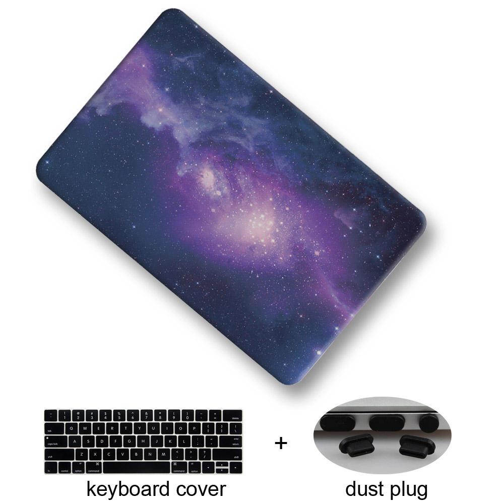 Redlai Night Sky Matte Hard Case for New Macbook Pro 13 15 Retina Touch bar A1706 A1707 Laptop case Air 13 inch