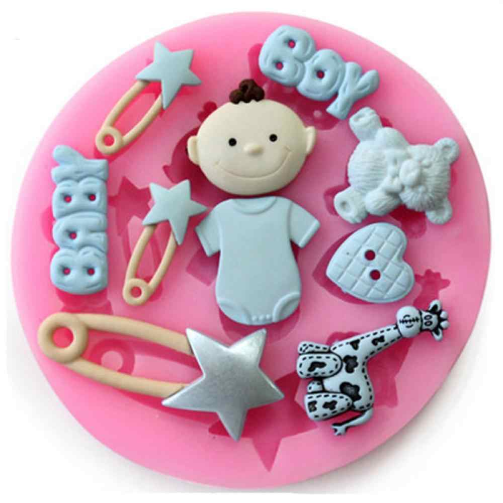 Pin baby girl silicone mold soap fondant molds sugar craft tools chocolate fondant cake moulds silicone molds for confectionery