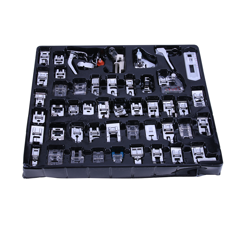 48Pcs Multi-function Domestic Tool For Brother Singer Janom Sewing Machine Braiding Blind Stitch Darning Presser Foot Feet Kits