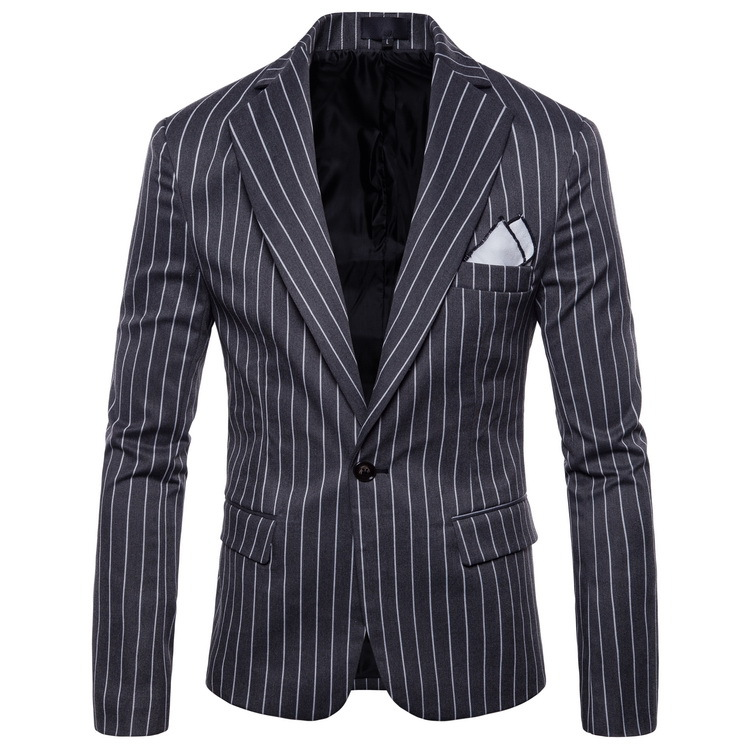 Mens Fashion Dance Business Affairs Wedding Blazer Long Sleeve Stripe Suit Jackets Pattern Stage Dropshipping Slim Coats S-4XL
