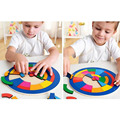 New 29pcs Wooden Kids Jigsaw Puzzles Toys With colorful clever board For Children Education And Learning DIY Toy