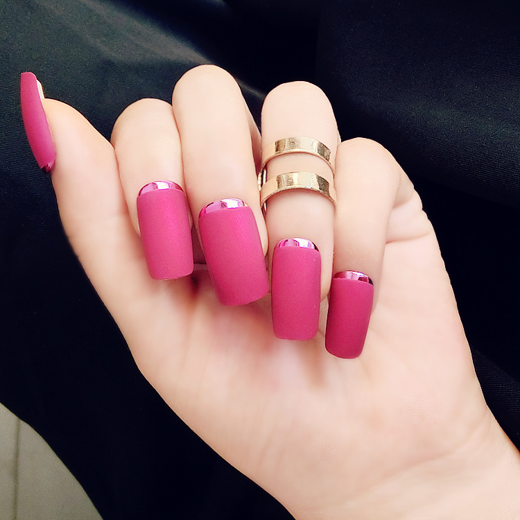 Elegant Fashion Matte 3 Colors 24PCS/set False Nail Acrylic Full ...