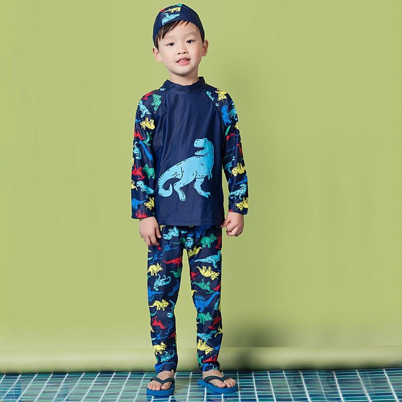 Swimsuit Children's Boy Kids Swimwear For Children Clothes Kid's Swimsuits Baby Bathing Suits Rash Guard Boys Super Cute Split