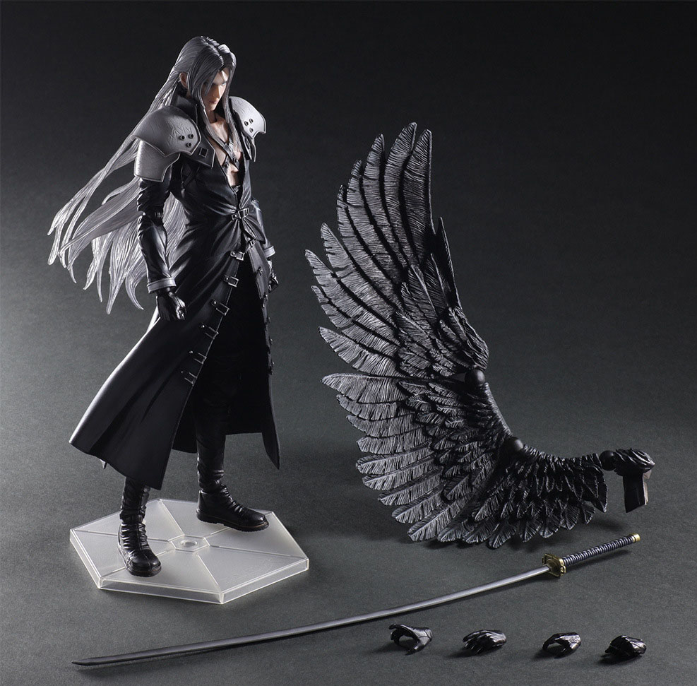 Free Shipping 10 PA KAI Game Final Fantasy VII 7 Sephiroth Boxed 25cm PVC Action Figure Collection Model Doll Toy Gift free shipping 10 pa kai hatsune miku boxed 25cm pvc action figure collection model doll toy gift