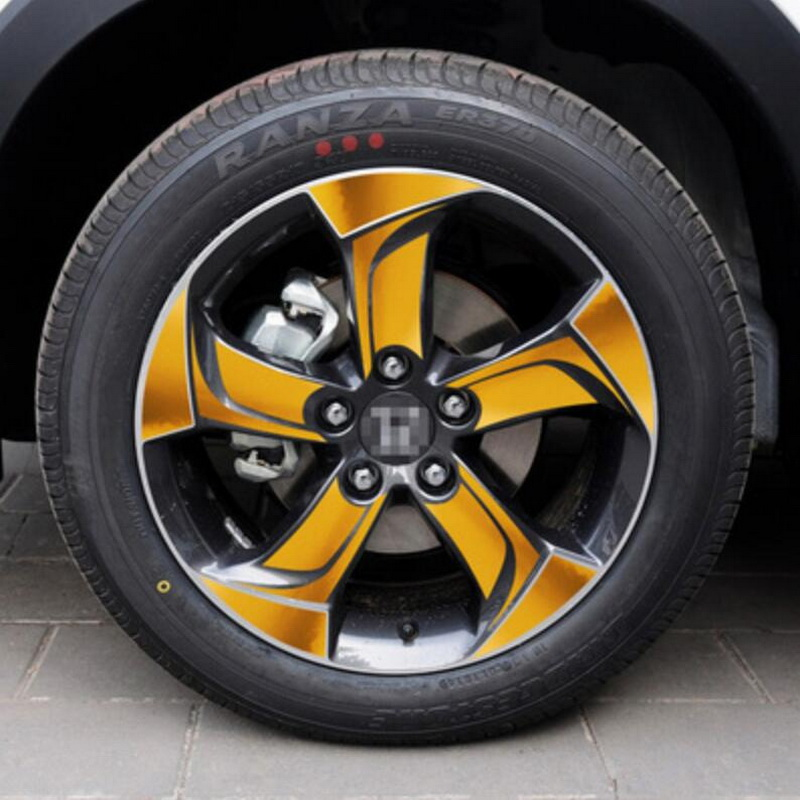 Tonlinker 1 шт. на 4 колеса DIY автомобиль стиль 17 дюймов Углеродные, для колес волокна Защитный чехол наклейки для Honda vezel HRV - Название цвета: C models