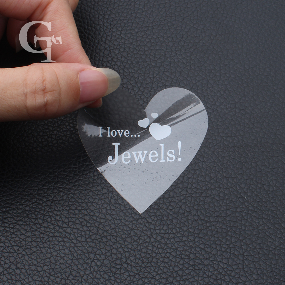 custom logo die cut shape transparent clear PVC paper stickers,hair extension customized self adhesive waterproof brand stickers