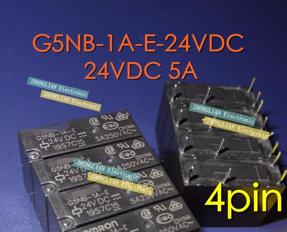 Free Shipping 100PCS new original Relay G5NB 1A E 24VDC G5NB 1A E DC24V G5NB 1A