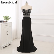 2019 Black Evening Dresses New Erosebridal Mermaid Formal Prom Elegant Sweetheart Women Wear Vestido De Festa ZCP2-fg