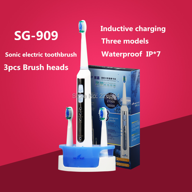 Sonic Electric toothbrush Rechargeable ultrasonic Tooth brush Inductive charging Washable SG-909 Seago Oral hygiene soocas x3 sonic electric toothbrush