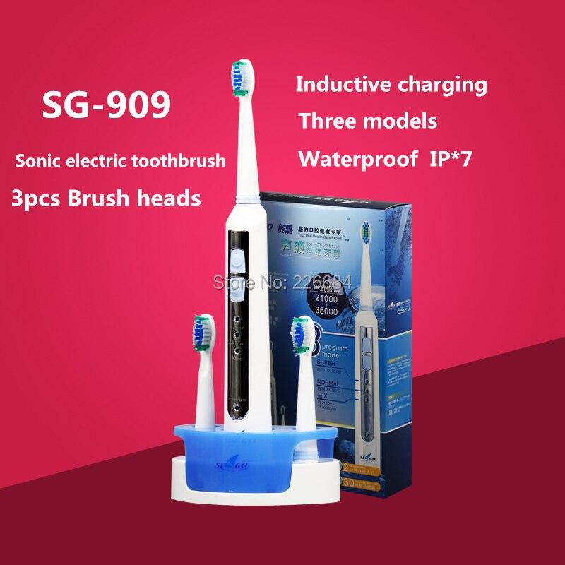Sonic Elektrische zahnbürste Wiederaufladbare ultraschall zahnbürste Induktive lade Waschbar SG-909 Seago mundhygiene
