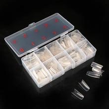 1 коробка/500 шт Типсы естественного цвета половинное покрытие поддельные накладные французский дизайн ногтей Искусственный акриловый гель УФ маникюрный набор DIY украшения ногтей