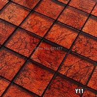 Brown cristallo placca tessere di mosaico HMGM1106A backsplash della cucina della parete adesivo per piastrelle piastrelle pavimento del bagno di trasporto libero