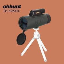 Best Buy ohhunt 10X42 Nitrogen Binoculars Monocular Vision Zoom HD Professional Birdwatching Telescope Hunting Scope with Bak4 Prism