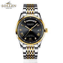 hot deal buy sollen mens automatic mechanical watches top brand luxury watches men steel  watches male business wristwatch relogio masculino
