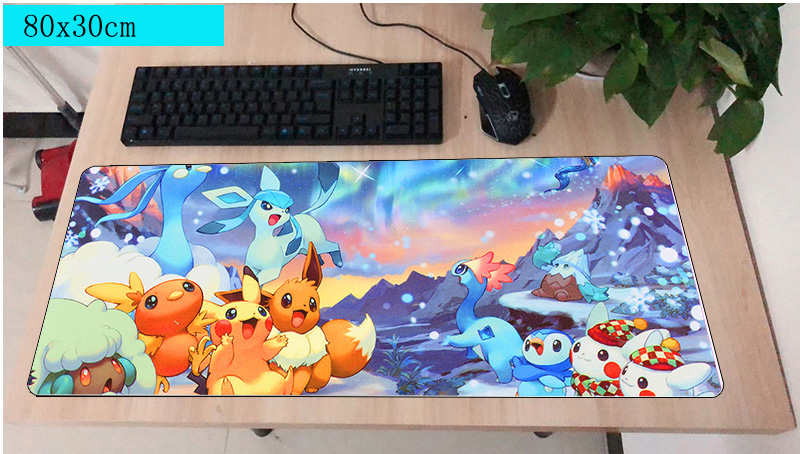 Pokemons mouse pad 800x300X2MM mouse mat laptop padmouse locked edge no