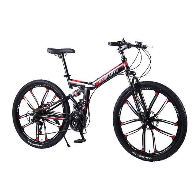 21 скорость складной горный велосипед 24 26 дюймов двойной дисковые тормоза Велосипеды велосипеда складной горный велосипед