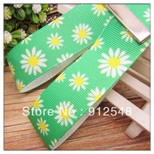Ann Fashion Accessories free shipping 1″(25mm) flower Printed grosgrain ribbon,Garment accessories,Hair ribbon,dx52