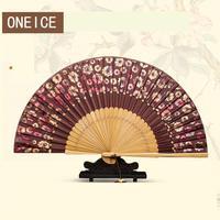 Chiński Dwie Sekcje Silk Fan Rzemiosła Prezent Składane Fani Ręczne
