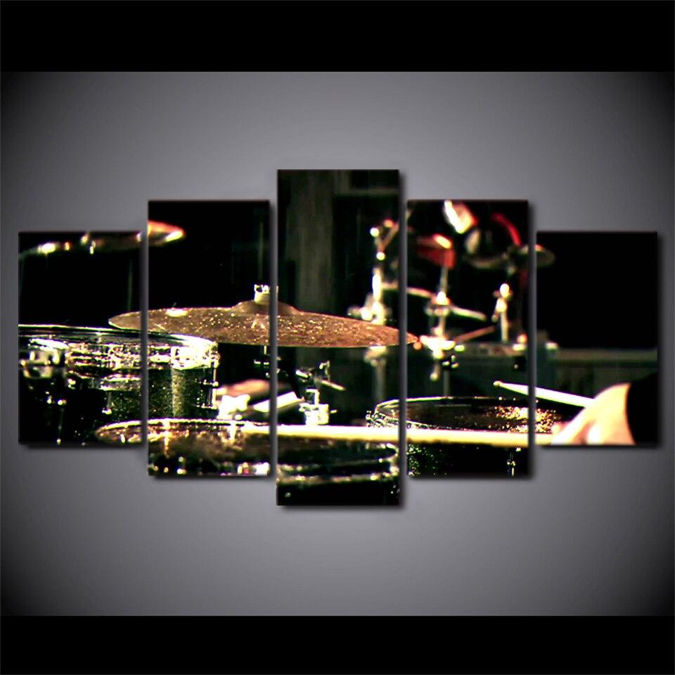 5 Unidades Lienzos Impresos Drummms Instrumentos Musicales Lienzo ...
