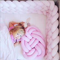 Baby Braided Crib Bumpers Knot Pillow Cushion Baby bedding sets Infant Toddler Sleep Position Pillow newborn Crib Bumpers