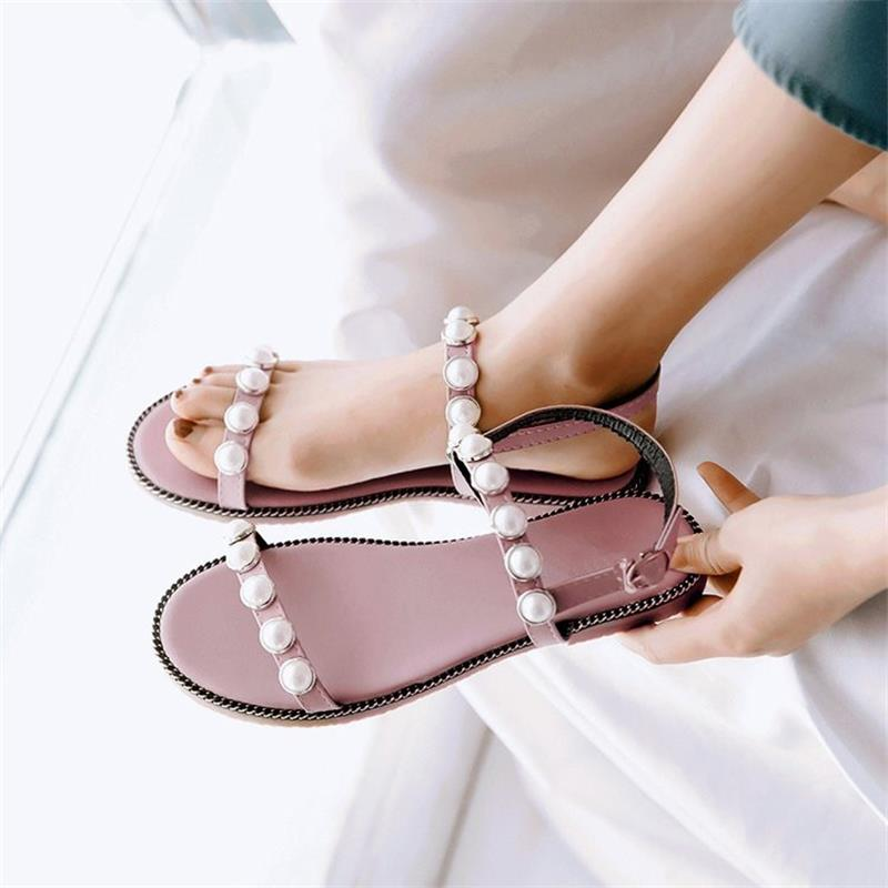 Women Sandals Flip Flops 2018 New Summer Fashion Wedges Shoes Woman Slides String Bead Beautiful Lady Casual Shoes Female wastyx new 2017 summer fashion cowboy women sandals casual women flip flops shoes wedges shoes woman
