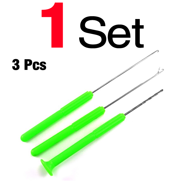 4 Pcs Carp Fishing Baiting Rig Needle and 18 Pieces Carbon Steel Hair Rigs