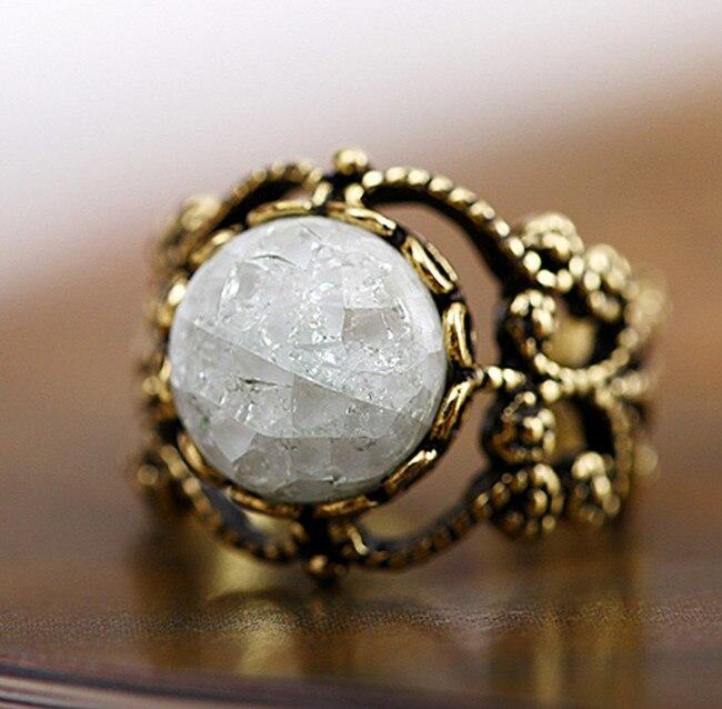 buy ice crystal rings vintage tibetan. Black Bedroom Furniture Sets. Home Design Ideas