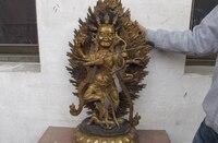 تمثال بوذا البوذية التبت البرونز القديم النحاس الجلد ماهاكالا داكيني البوذية 8.02-في تماثيل ومنحوتات من المنزل والحديقة على