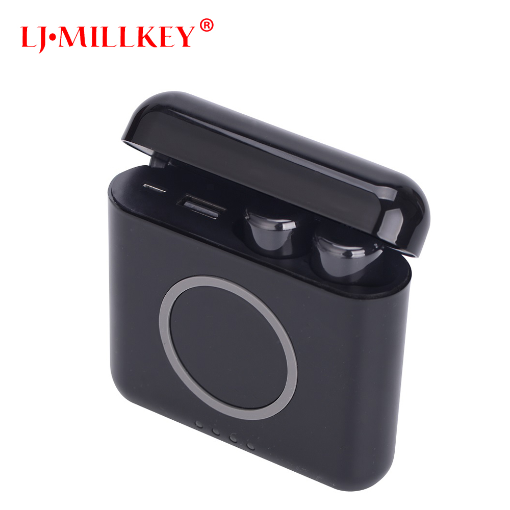 Wireless Earbuds With Charging Case TWS in ear earphones with Mic for iphone xiaomi bluetooth sport earphone LJ-MILLKEY YZ159 tws wireless earphones bluetooth earphone pair in ear music earbuds set for apple iphone 6 7 samsung xiaomi sony head phone md1