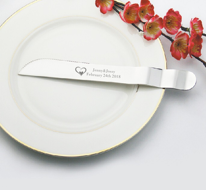 HOT Personalized wedding Favors cake set Cake shovel cake knife famous cake decorating tools personalized with wish text in Other Cake Tools from Home Garden