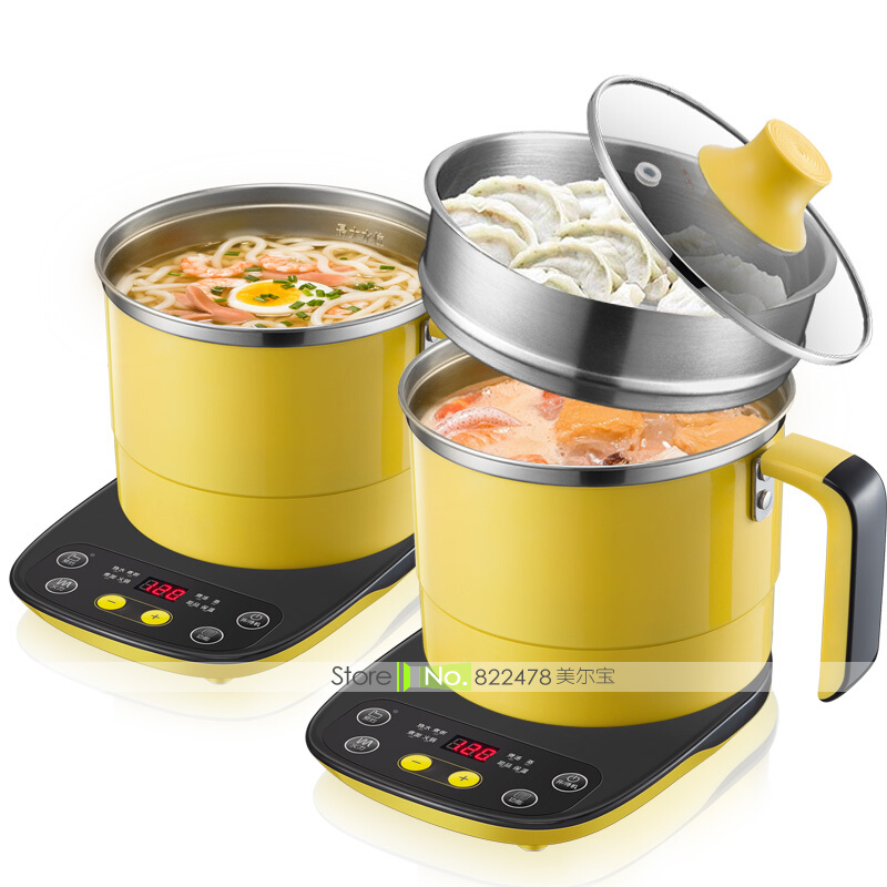 JZ02/600W1.2L Student DIY Mini Electric Skillets Intellective Induction Cookers Base Multi Cookers Cup Egg Boiler Single/Couples xeoleo commercial induction 3500w stainless steel induction cookers with timing for hotpot soup stewing stir fly