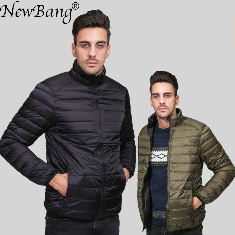 NewBang Brand Ultralight Down Jacket Men Down Coat Male Autumn Winter Double Side Feather Reversible Windproof Lightweigt Parka