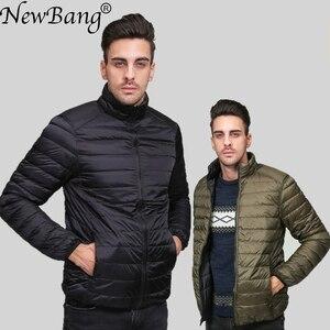 Image 1 - NewBang Brand Ultralight Down Jacket Men Down Coat Male Autumn Winter Double Side Feather Reversible Windproof Lightweigt Parka