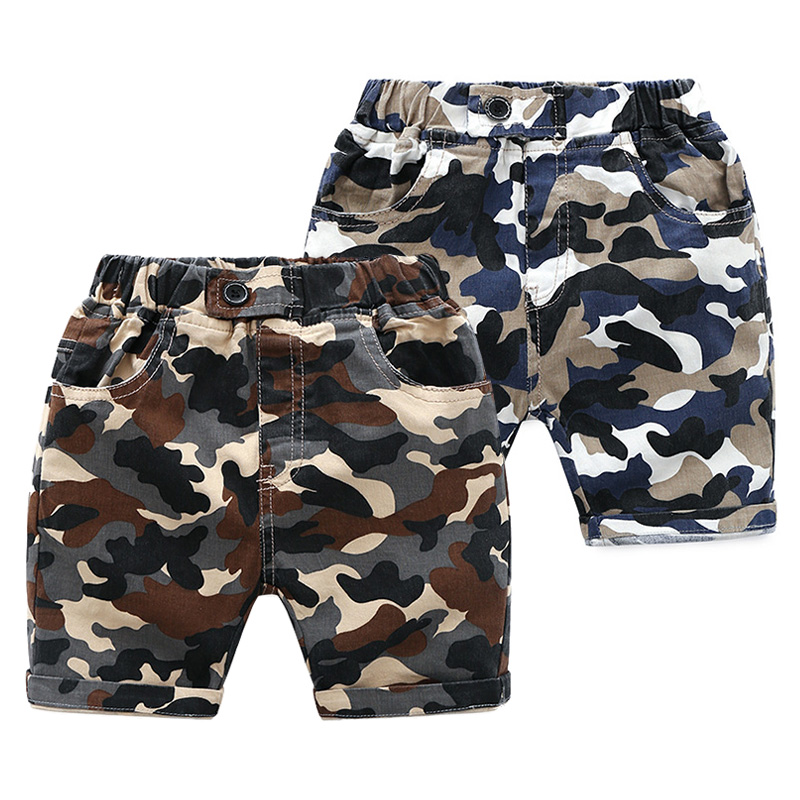 Children's clothing boy camouflage shorts summer 2018 new children's pants boy summer Korean baby pants tide new summer children boys sets baby boy active shorts tees pants 2 pieces kids casual o neck camouflage pattern kid clothing hot