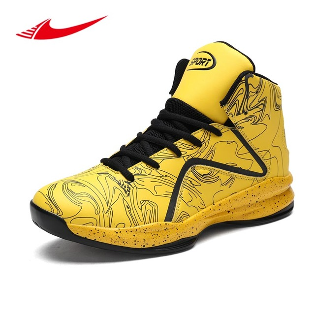 3873c15691bc Beita Plus Size 39-46 High Top Men Basketball Shoes Night Lighting Ankle Men  Sneakers Speed Training Boots Cushion Sport Shoes