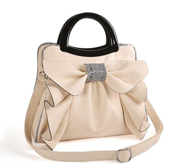 все цены на 2018 new arrive women's shoulder bag Bow Ruched leather handbags vintage messenger bags motorcycle shoulder bags womens bag tote