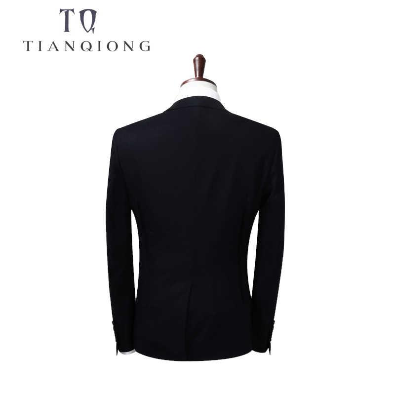 天原作ブルー 3 ピースのスーツの男性韓国のファッションビジネスメンズスーツデザイナー 2018 スリムフィットの結婚式のスーツサイズ S-4XL