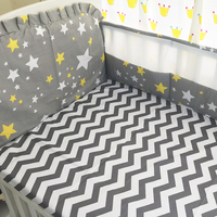 cartoon summer bedding Sets Crib Baby bumpers 100%Cotton 6pcs/set Bed Around protector crib bumpers / Bed sheet / pillowcase