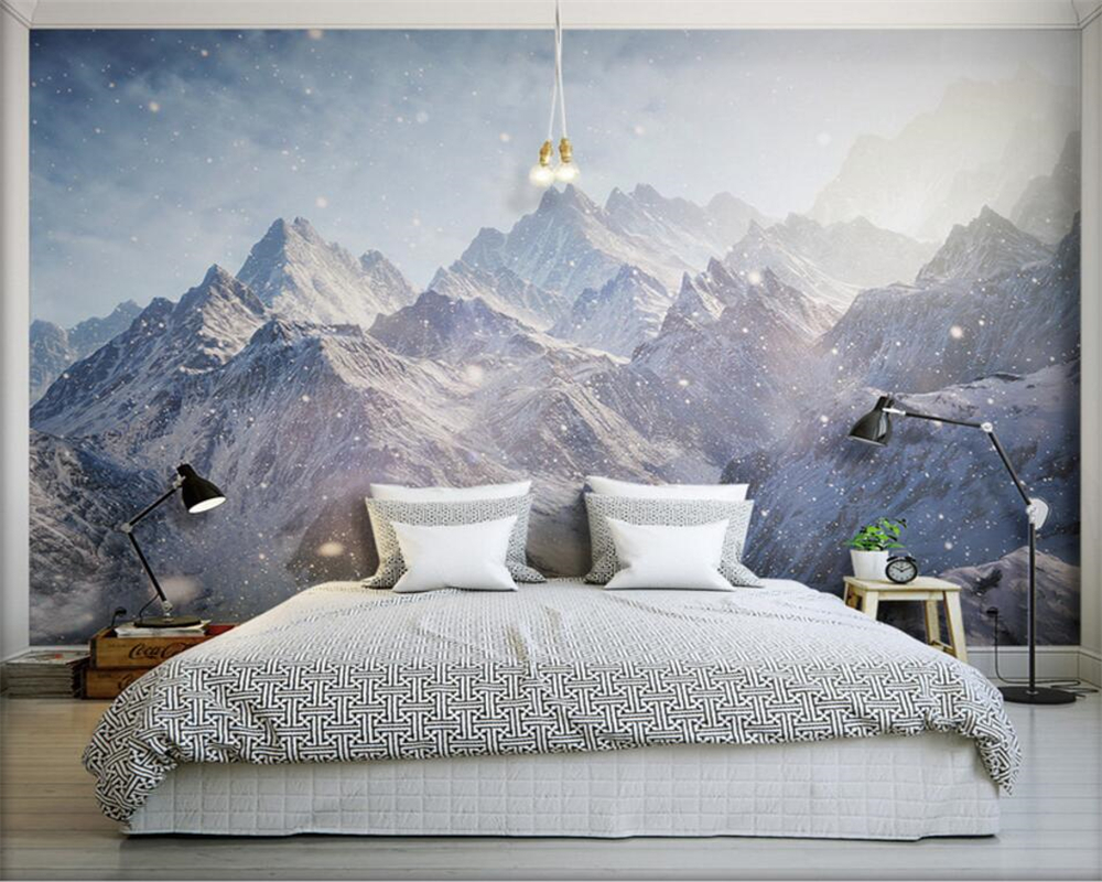 Beibehang 3d wallpaper Majestic Kunlun Mountains HD photo wallpaper covered mural scrolls for living room bedroom wallpaper
