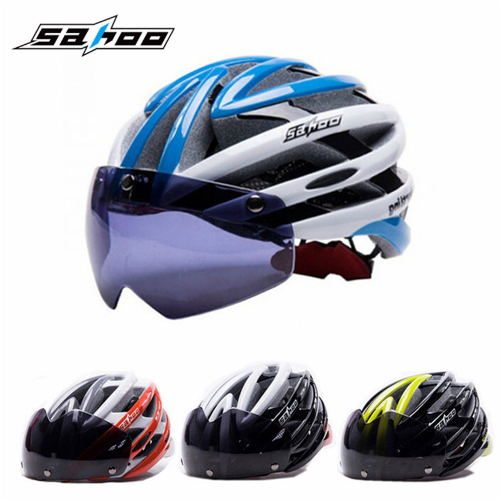 цены  SAHOO MTB Bike Cycling Helmet Bicicleta Capacete Casco Ciclismo Para Bicicleta Ultralight Helmet+Polarized Sunglasses Lens