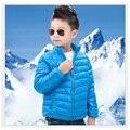 Sólido Azul Muchacho Abajo Abrigos Niños Trajes de Invierno Bebé Chaqueta Abrigos Abrigos niños parkas Venta Caliente