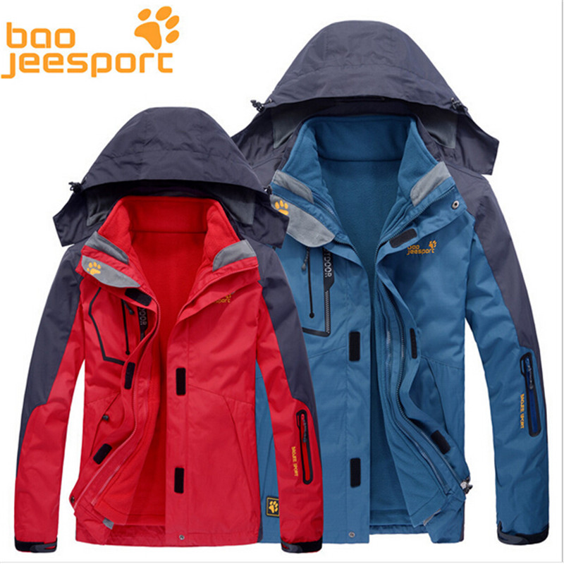 FreeShipping-HOT SALE Boojee Lovers Autumn/Winter Outdoor Waterproof Breathable Mountaineering 3in1 Fleece Jackets BJ1201/1202 free shipping new hot sale winter lover couple outdoor sport 3in1 twinset water windproof skiing mountaineering jackets 160d321d